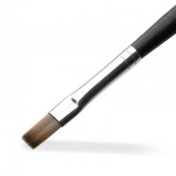 Gel Pinsel No. 6 – Kunsthaar grau gerade (Ergo)