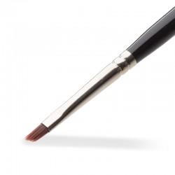 Gel Pinsel No. 4 – abgeschrägt, Kunsthaar (dunkles Haar)