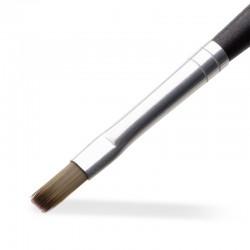 Gel Pinsel No. 4 – Kunsthaar grau gerade (Ergo)